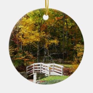 Herbst-LandschaftsFoto der sieben Rundes Keramik Ornament