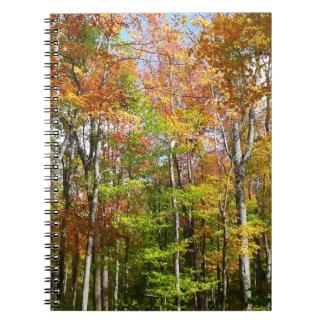 Herbst-Landschaftsphotographie des Fall-Waldii Spiral Notizblock
