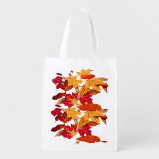 Herbst-Laub in rotem orange gelbem Brown Wiederverwendbare Einkaufstasche