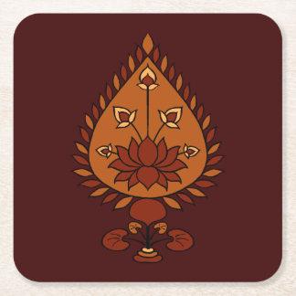 Herbst Lotus Rechteckiger Pappuntersetzer