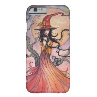 Herbst-magische Hexe-und Katzen-Fantasie-Kunst Barely There iPhone 6 Hülle