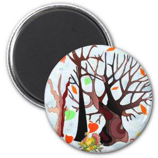 Herbst-Märchenland - Runder Magnet 5,7 Cm
