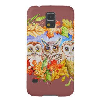 Herbst mit drei Eulen Samsung Galaxy S5 Cover