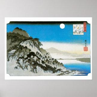 Herbst-Mond - Vintage Hiroshige Drucke