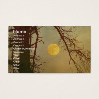 Herbst-Mond Visitenkarte
