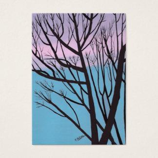 Herbst-Nachtbaum-Künstler-Trading Card Visitenkarte