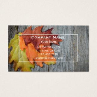 Herbst-oder Fall-Visitenkarte Visitenkarte