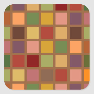 Herbst quadriert quadratischer aufkleber