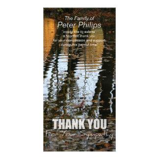 Herbst-Reflexions-Beileid danken Ihnen Fotokarte Karte