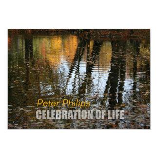 Herbst-Reflexions-Feier der Leben-Einladung Karte