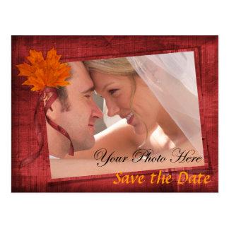 Herbst-Save the Date Postkarten