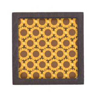 Herbst-Sonnenblume-Muster Kiste