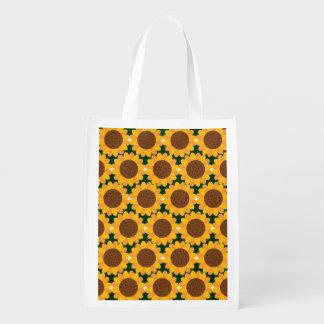 Herbst-Sonnenblume-Muster Wiederverwendbare Einkaufstasche