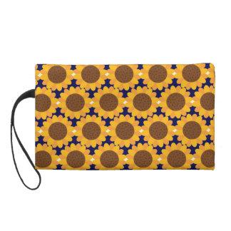 Herbst-Sonnenblume-Muster Wristlet