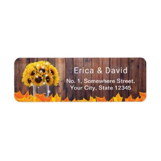 Herbst-Sonnenblume-Weckglas-rustikale