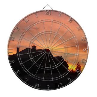 Herbst-Sonnenuntergang im Praries Dartscheibe