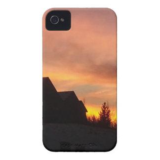 Herbst-Sonnenuntergang im Praries iPhone 4 Cover