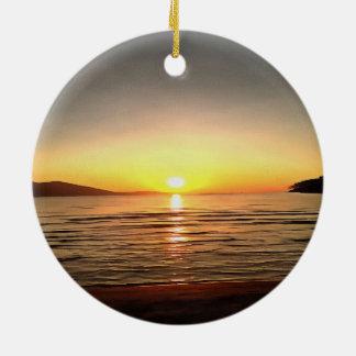 Herbst-Sonnenuntergang Keramik Ornament