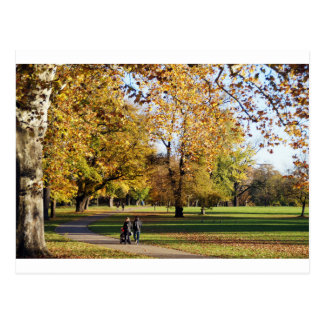 Herbst Spaziergang Postkarte