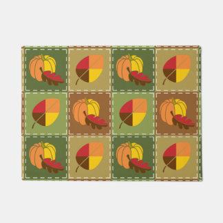 Herbst-Steppdecken-Fußmatte Türmatte