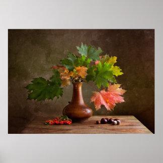 Herbst-Stillleben Plakatdruck