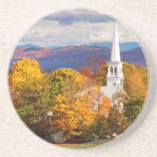 Herbst-Szene in Peacham, Vermont, USA Getränkeuntersetzer