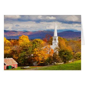 Herbst-Szene in Peacham, Vermont, USA Karte