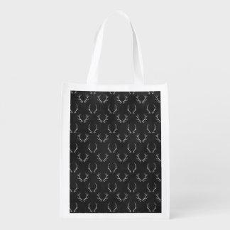 Herbst-Tafel-Geweih-Muster Wiederverwendbare Einkaufstasche