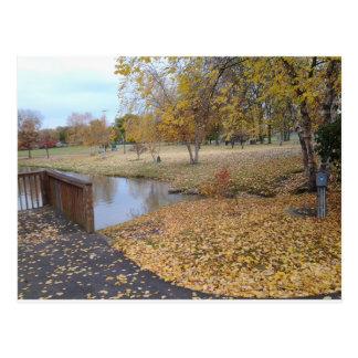 Herbst-Tag Postkarte