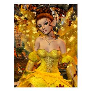 Herbst-Tanz-Feen-Fantasie-Kunst Postkarte