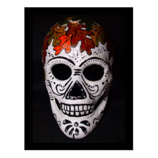 Herbst-Thema-Tag der toten Masken-Postkarte Postkarte