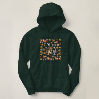 Herbst-Thema-Waldtier-Muster Hoodie