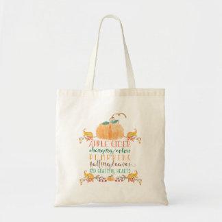 Herbst-Themed Budget-Tasche Tragetasche