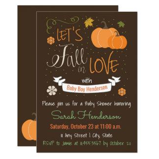 Herbst-Themed Fall in Liebe-Baby-Dusche laden ein 12,7 X 17,8 Cm Einladungskarte