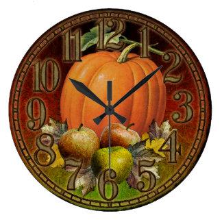 Herbst trägt Wanduhr Früchte