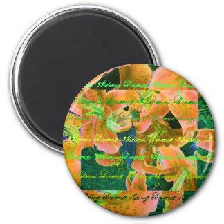 """""""Herbst träumt"""" orange Lilienen-Magneten Magnete"""