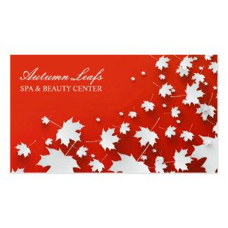Herbst treibt Visitenkarte Blätter