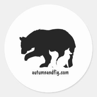 Herbst u. Feige Runder Aufkleber