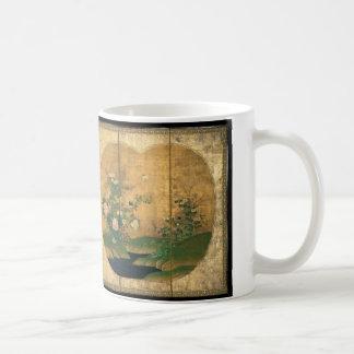 Herbst und Winter-Blumen und Vögel Kaffeetasse