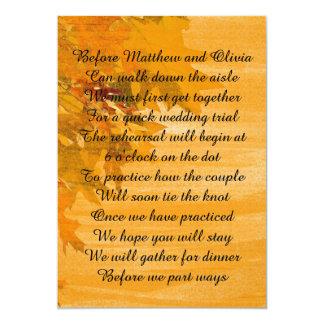Herbst verlässt 12,7 x 17,8 cm einladungskarte