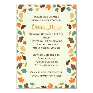 Herbst verlässt BrautPolterabend-Einladungen 12,7 X 17,8 Cm Einladungskarte