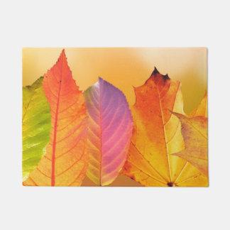 Herbst verlässt bunte moderne feine türmatte