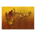 Herbst verlässt den Hochzeit im Herbsts-Empfang 8,9 X 12,7 Cm Einladungskarte