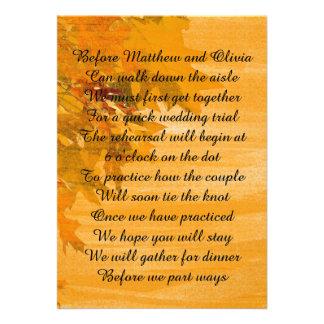Herbst verlässt individuelle ankündigungskarte