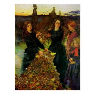 Herbst verlässt feine Kunst Postkarte