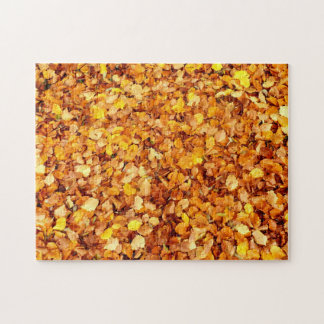 Herbst verlässt Foto-Puzzlespiel mit Geschenkboxen Puzzle