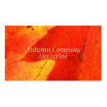 Herbst verlässt Geschäfts-Karten Visitenkarten