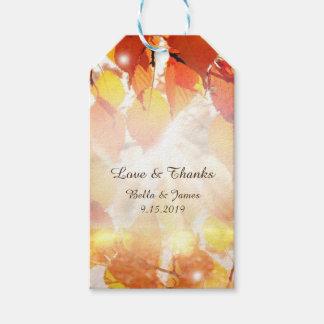Herbst verlässt Hochzeit im Geschenkanhänger