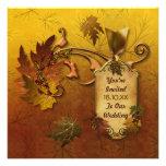 Herbst verlässt Hochzeit im Herbsts-Einladung