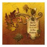 Herbst verlässt Hochzeit im Herbsts-Einladung Quadratische 13,3 Cm Einladungskarte